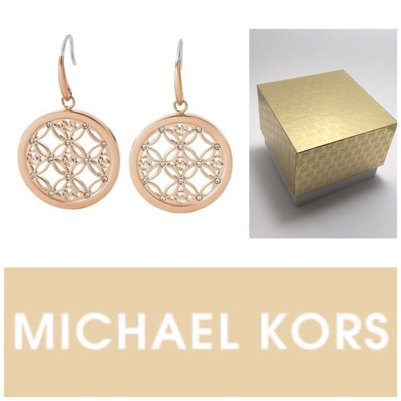 485170687d1839 Michael Kors Jewelry | Rgt Monogram Pave Set Drop Earrings | Poshmark
